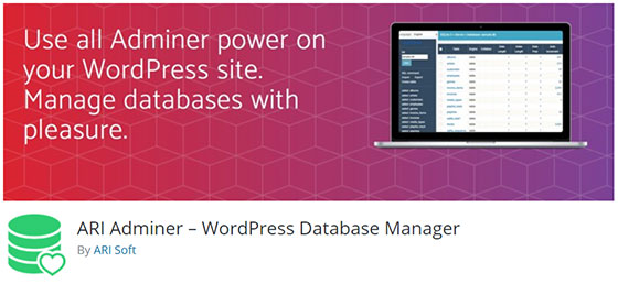ARI Adminer – WordPress Database Manager