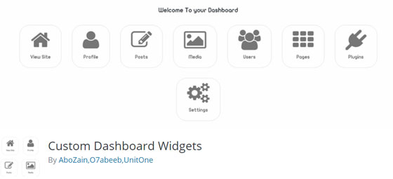 Custom Dashboard Widgets