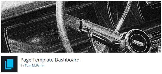 Page Template Dashboard