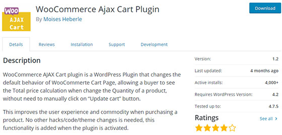 Плагин WooCommerce Ajax Cart