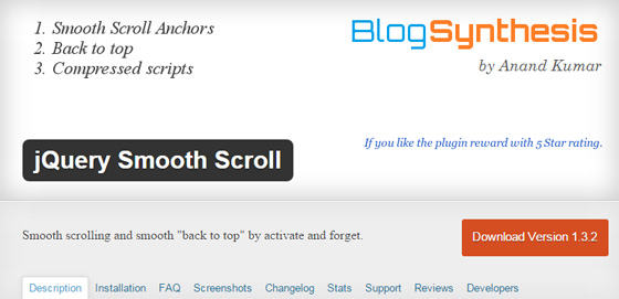 Модуль jQuery Smooth Scroll