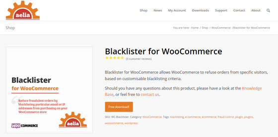 Blacklister for WooCommerce