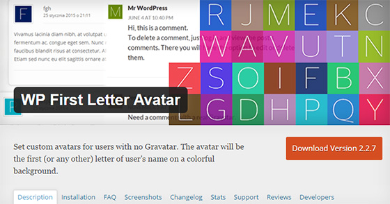 Плагин WP First Letter Avatar