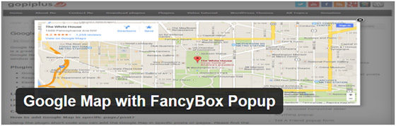 Google Map with FancyBox Popup