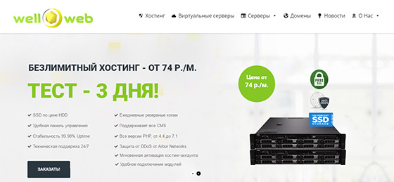 Хостинговая компания well-web.net