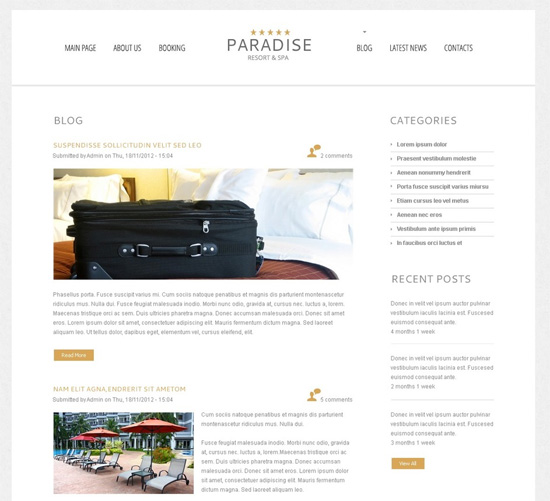 Free WordPress Theme for Hotel