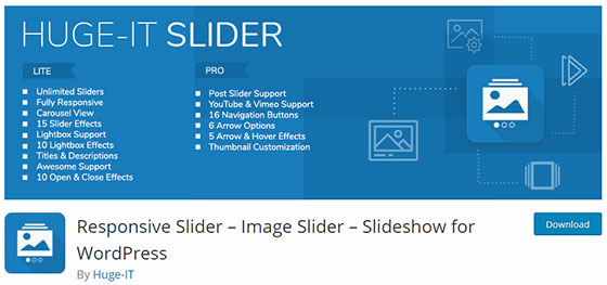 Responsive Slider – Image Slider – Slideshow for WordPress