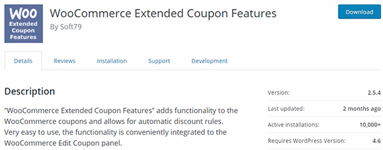 Плагин WooCommerce Extended Coupon Features