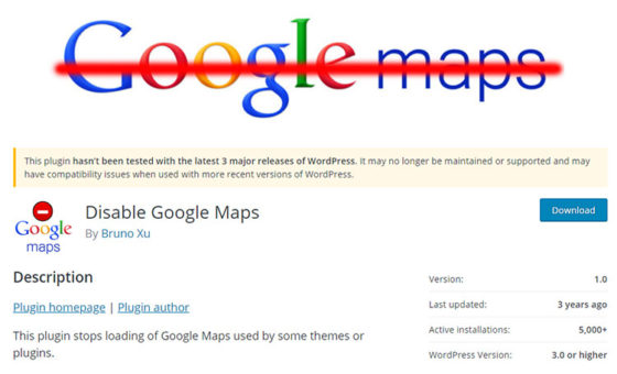 Disable Google Maps