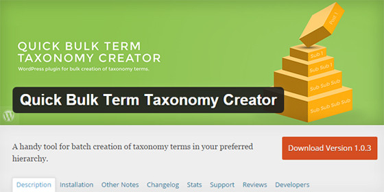 Плагин Quick Bulk Term Taxonomy Creator