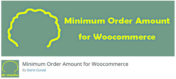 Minimum Order Amount for Woocommerce