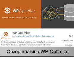 Плагин WP-Optimize