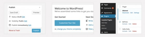 Админка WordPress 3.8