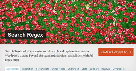 Плагин Search Regex