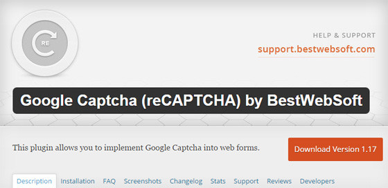 Плагин Google Captcha (reCAPTCHA) by BestWebSoft