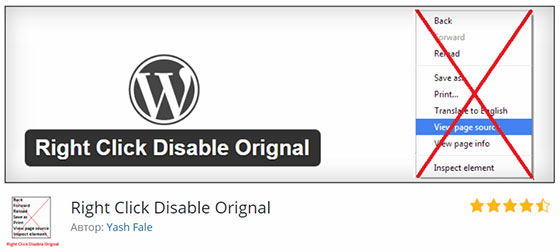 Right Click Disable Orignal