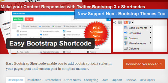 Модуль Easy Bootstrap Shortcode