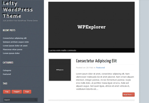 Lefty Free WordPress Theme
