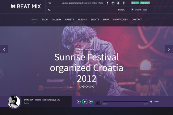 BeatMix wordpress template