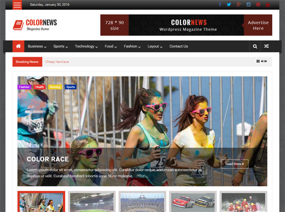 Colornews wordpress template
