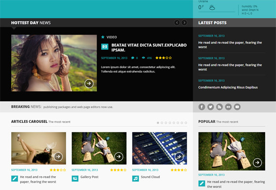 Forceful wordpress template