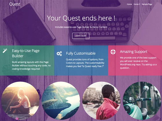 Quest wordpress template