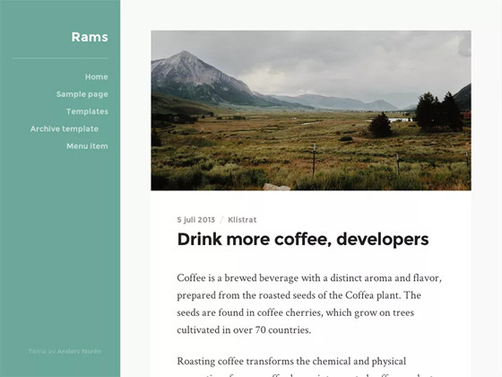 Rams wordpress template