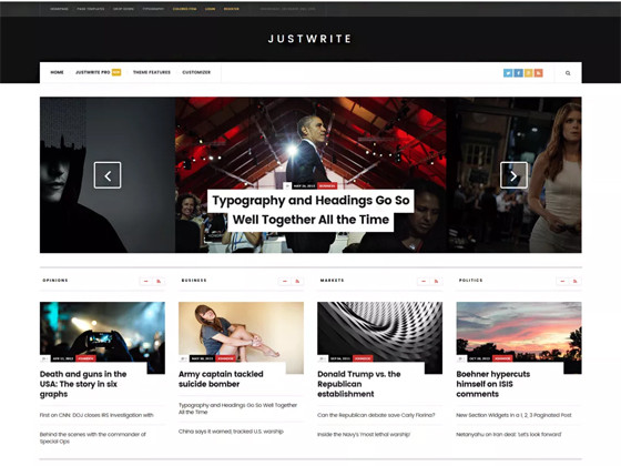 JustWrite wordpress template
