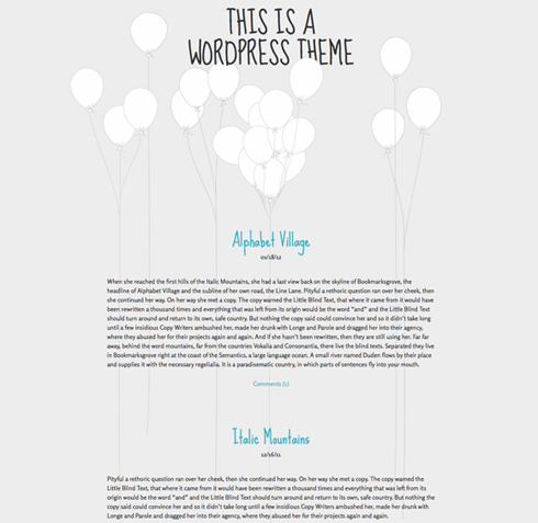 WP-Theme: Balloons