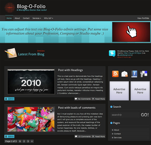 Blog-O-Folio WordPress Theme