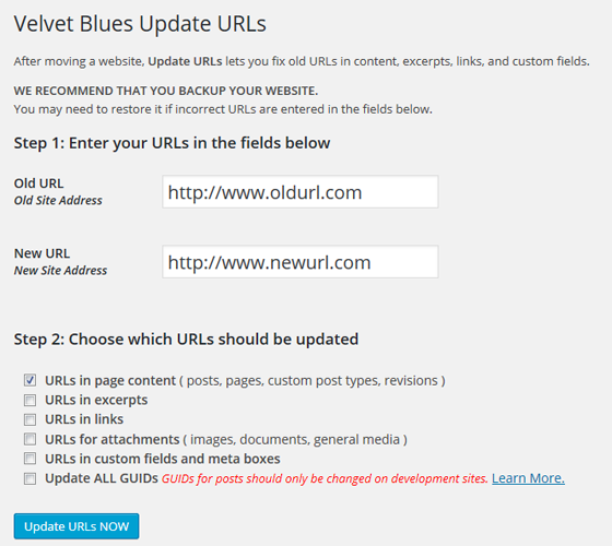 Плагин Velvet Blues Update URLs