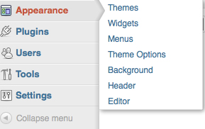 меню WordPress 3.3