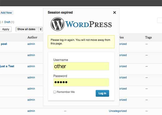 Wordpress 3.6 - логин